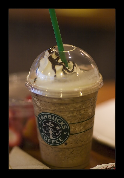 vanilla ice frapachino tons whipped cream 3 eat 3